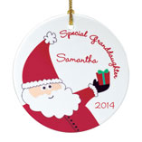Santa Letters & Childrens Gifts - Personalized Special Granddaughter Porcelain Ornament