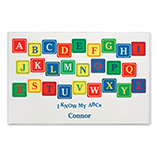 Santa Letters & Childrens Gifts - Personalized Alphabet Placemats