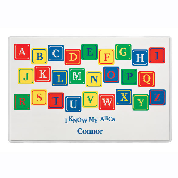 Personalized Alphabet Placemats