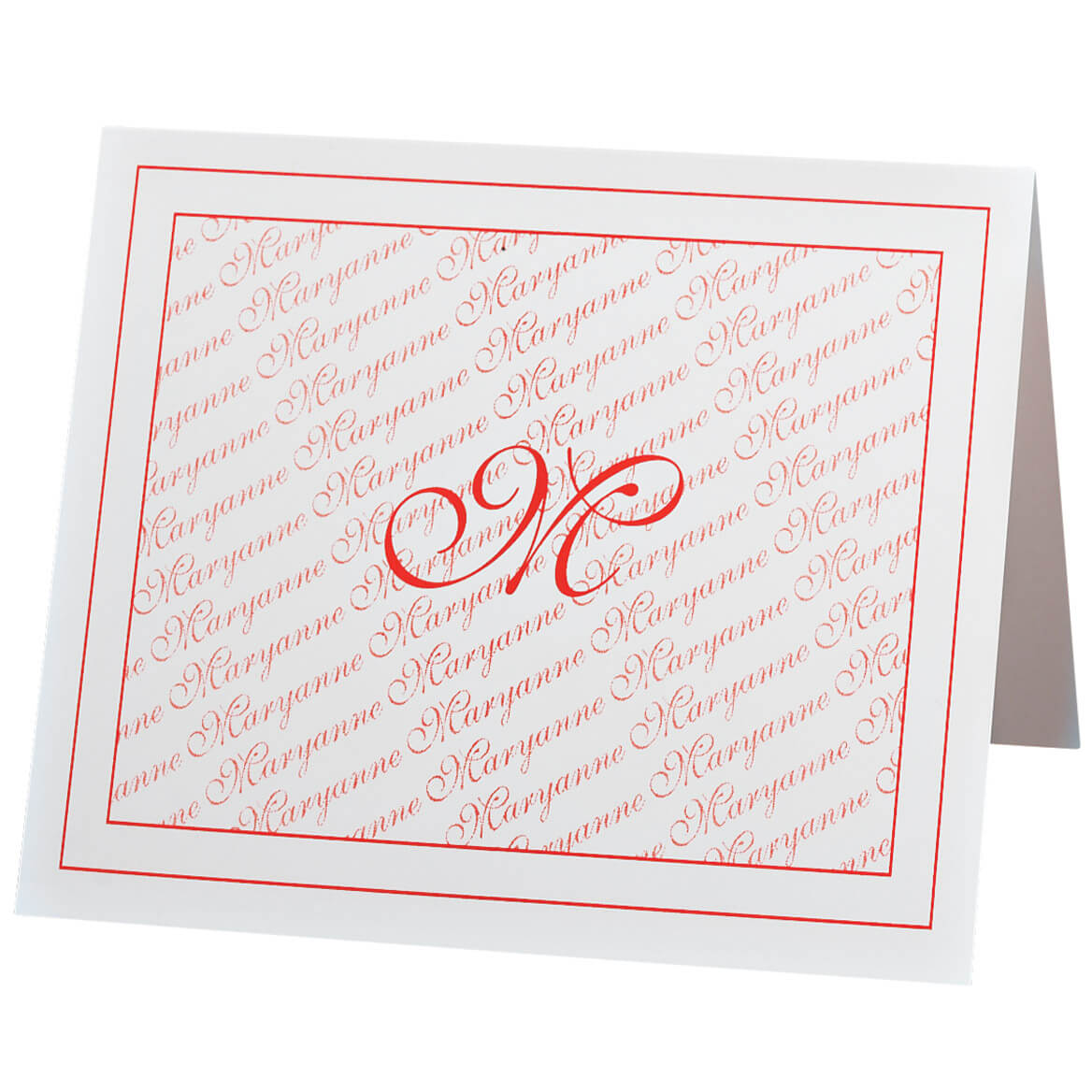 Monogrammed Note Cards Set of 25