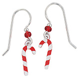 Accessories - Sterling Silver Candy Cane Earrings