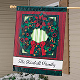 Personalized Classic Wreath Flag