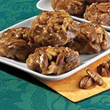 Sugar Free - No Sugar Added Chewy Nut Cluster Pralines - 12 Oz.