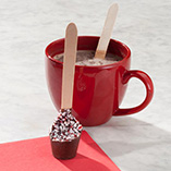 Holiday Treats - Peppermint Hot Chocolate On A Spoon