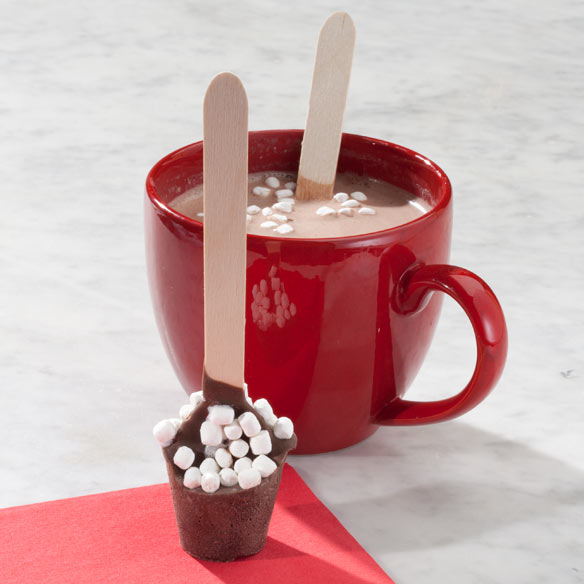 Marshmallow Hot Chocolate On A Spoon