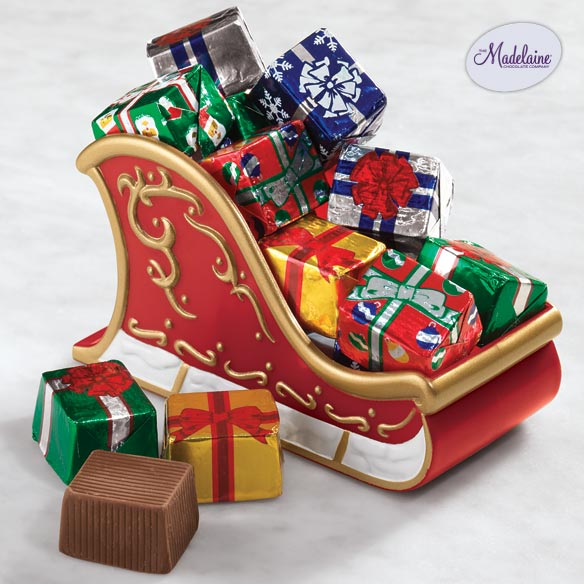 Christmas Sleigh with Milk Chocolate Presents