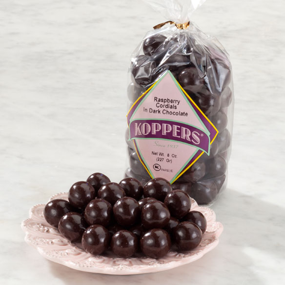 Dark Chocolate Raspberry Cordials - 8 Oz. Bag