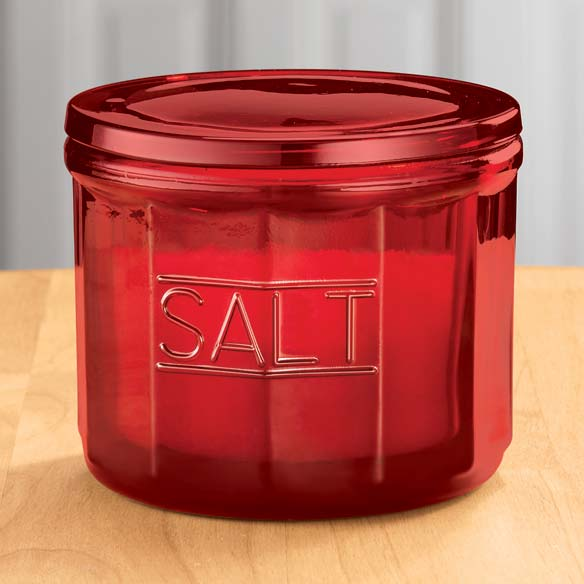 Red Depression Style Glass Salt Cellar