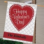 "Valentines Day - Personalized Valentine 27"" x 37"" Flag"