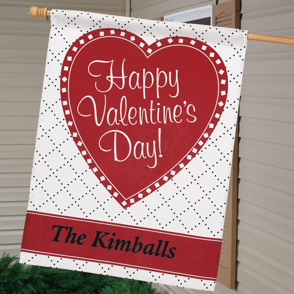 "Personalized Valentine 27"" x 37"" Flag"