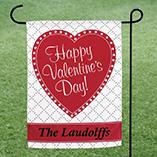 Valentines Day - Personalized Valentine Garden Flag