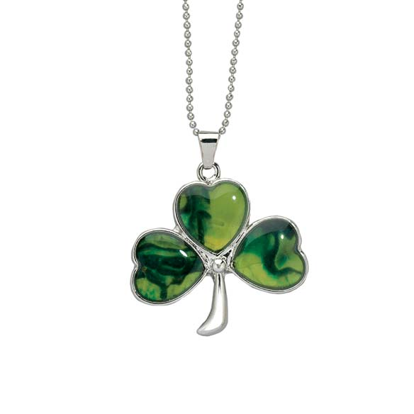 Paua Shamrock Necklace