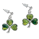St. Patrick's Day - Paua Shamrock Earrings
