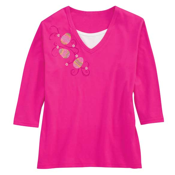 Sweeping Eggs 3/4-Sleeve T-Shirt