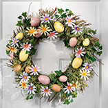 Easter - Easter Egg And Daisy Wreath