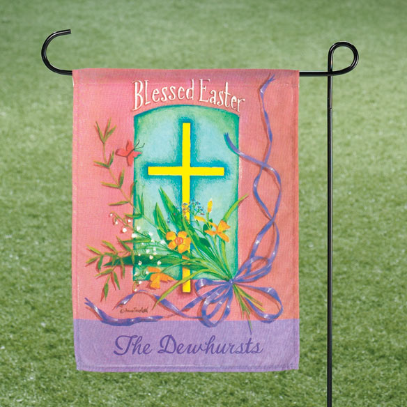 Personalized Blessed Easter Garden Flag