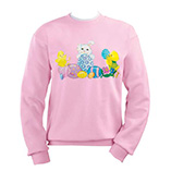Bunny And Chicks Sweatshirt S-XL, Small, Pink