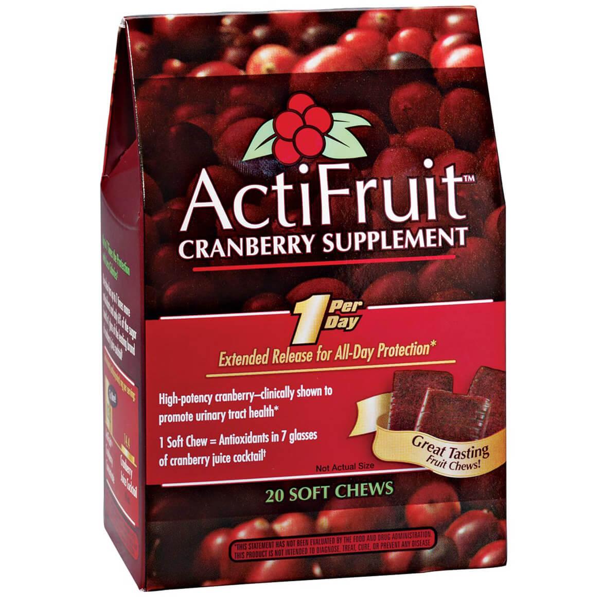 ActiFruit™ Cranberry Supplement Chews - 20 Count-340905