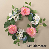 Wall, Floor & Window Decor - Rose Wreath