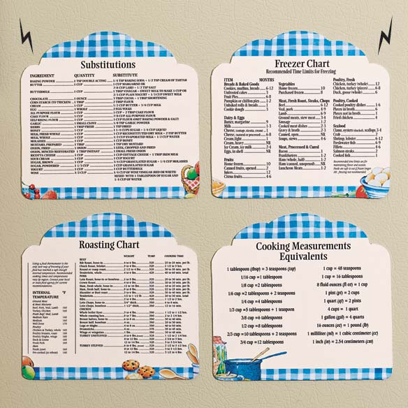 Helpful Kitchen Tips Magnet Set