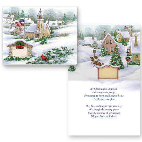 God Bless America Non-Personalized Card Set of 20