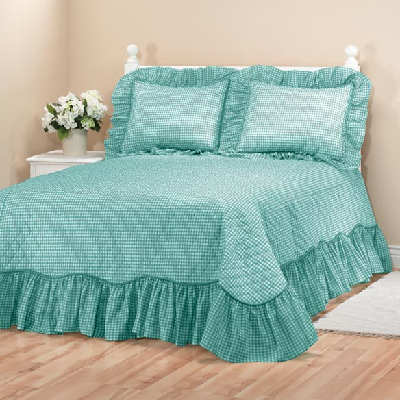 Gingham Bedspread - View 1