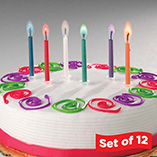 Color Flame Candles Set of 12
