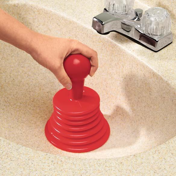 handy plunger drain plunger sink plunger miles kimball. Black Bedroom Furniture Sets. Home Design Ideas