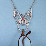 View All Jewelry & Keychains - Butterfly Necklace Eyeglass Holder
