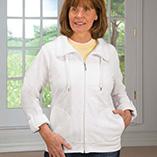 Everyday Sweatshirts - White Knit Jacket