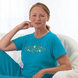 T-Shirts - Floral Swirls T-Shirt - S-XL