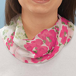 Dickies & Fashion Accessories - Pink Floral Neck Cowls