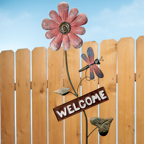 Flower Welcome Stake