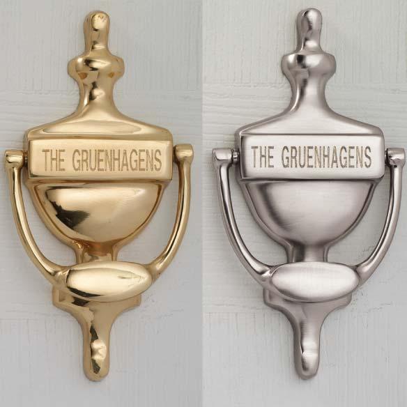 Personalized door knocker engravable door knocker for Custom made door knockers