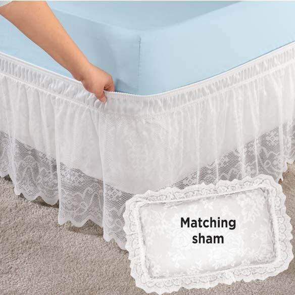 Lace Bed Ruffle and Sham