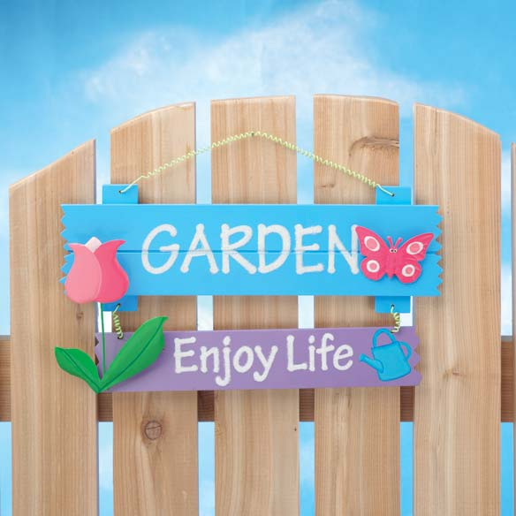 Enjoy Life Garden Sign