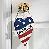 American Wooden Heart Plaque