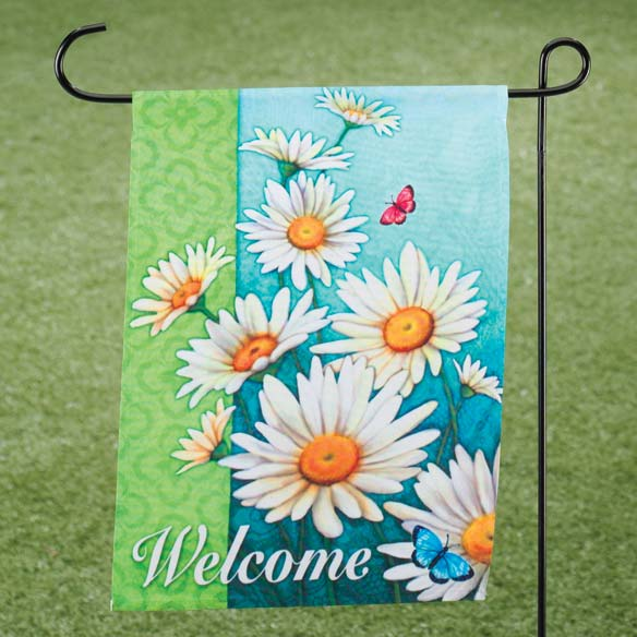 Daisies Garden Flag - View 1