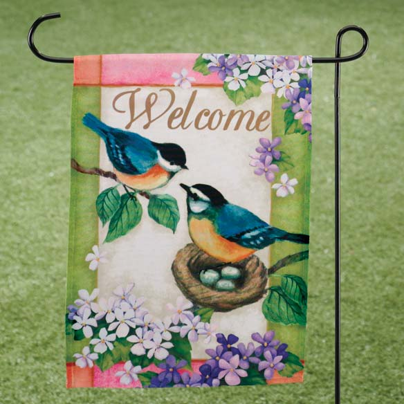 Bluebird Garden Flag - View 1