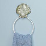 Bathroom & Shower - Shell Towel Ring