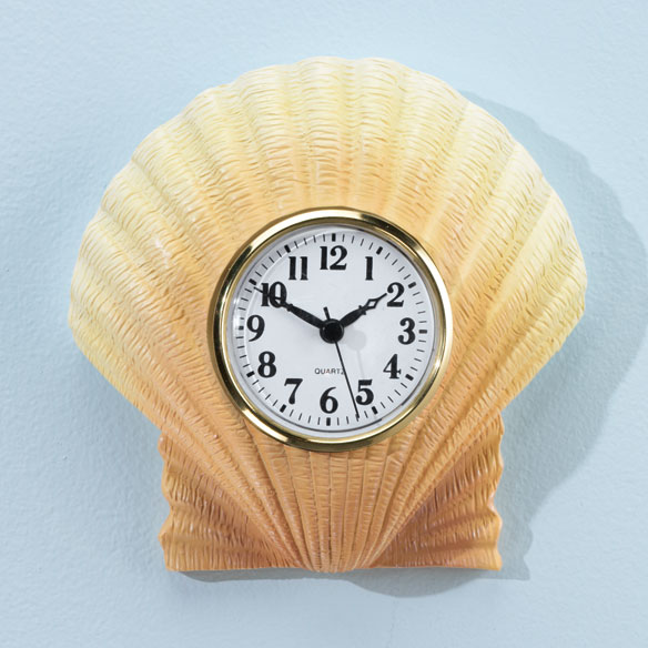 Shell Bathroom Clock