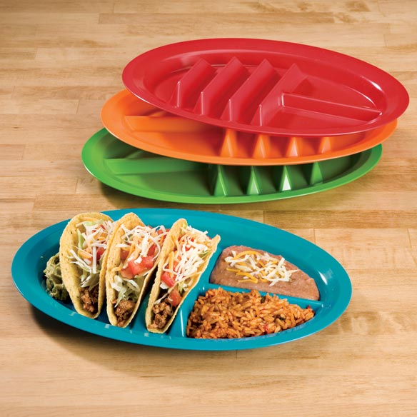 Fiesta Taco Plates - Set of 4