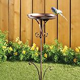 Birdfeeders & Pest Control - Metal Birdbath