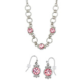 Necklace & Earring Set Rose