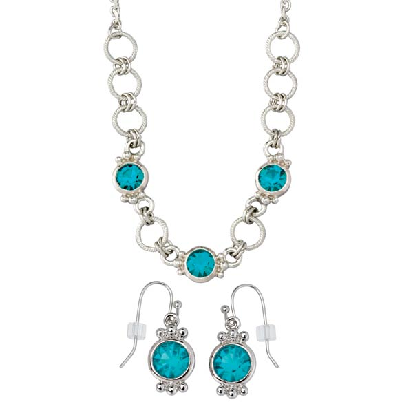 Necklace & Earring Set Teal