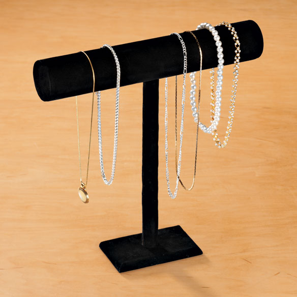 Black Velour Necklace Display