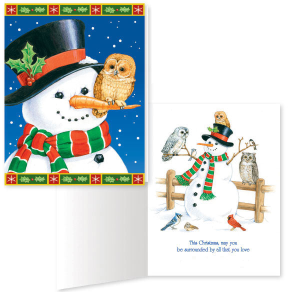 Snowman And Owls Card Set