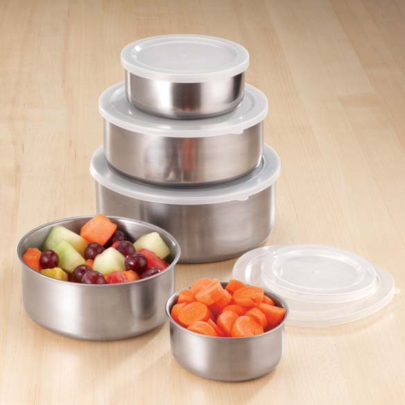 Stainless Steel Bowls - Set Of 5
