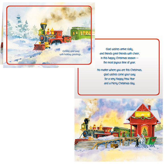 Old Time Train Station Card Set of 20