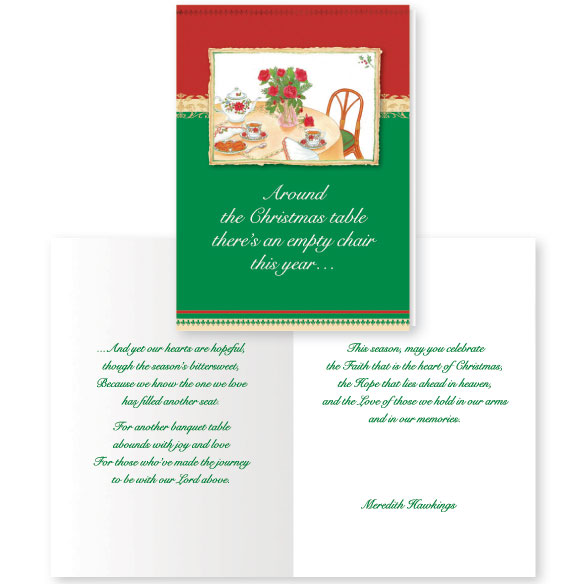 Memorial Greeting Christmas Card Set of 20